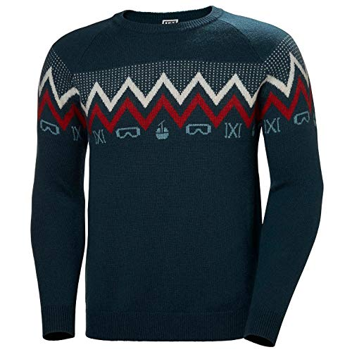 Helly-Hansen Mens Wool Knit Sweater - Navy, L