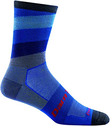 DARN TOUGH (Style 7004) Men's Stage Run Sock - Marine, Large