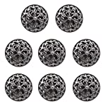 MOMOKY 8Pack/10Pack 18mm-25mm/0.7''-1'' Fine Fashion Button-Hollow Flower Carved Metal Button-Overcoat Button for Clothing DIY Sewing Craft Discover Vogue Black 25mm/1''-8Pcs