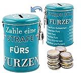 Die etwas andere Spardose - generiere Zusatzeinkommen durch die legendäre FURZKASSE aus Metall, inkl. Schloss und Schlüssel, 11 x 7,5 cm