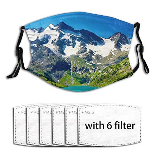 Unisex Plissee-Vorhänge, Thermo-Isoliert, Geräuschwärmer, Gesichtsmaske, Mundmasken mit Ohrenschützer, Anti-Wind-Maske, wiederverwendbar