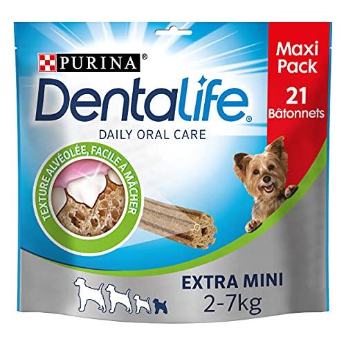 dentalife Purina Extra Mini Maxi Pack de 21?varillas de mascar para perros de muy peque?a talla 207?G 🔥