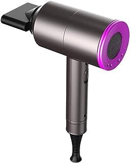 Secador de cabello iónico, secador de cabello iónico profesional de 2000 W, secador de cabello de salón 3 velocidades 2 boquillas, accesorios para concentrador y difusor, velocidad de calor.