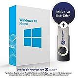 MS Windows 10 Home Deutsch 32 & 64 Bit mit bootfähigem USB-Stick von OS-TC + 1 OEM Aktivierungsschlüssel