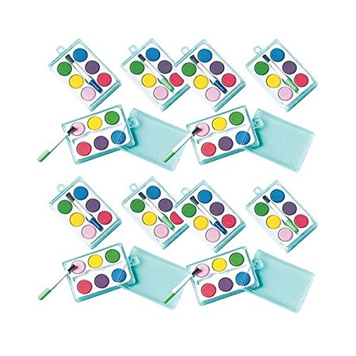 amscan Watercolor Paint Sets , Party Favor , Pack of 12,Multi Color,2 3/8' x 1 1/2'
