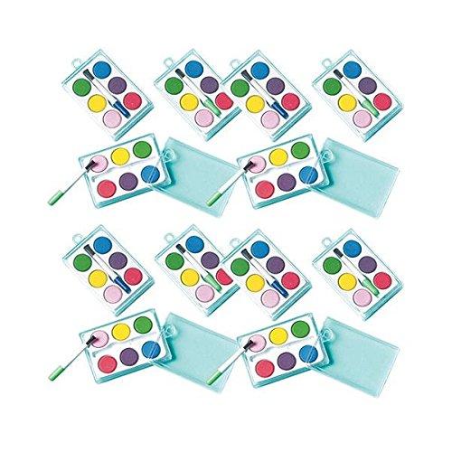 amscan Watercolor Paint Sets , Party Favor , Pack of 12,Multi Color,2 3/8' x 1 1/2'