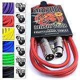 No Bull Music Gear' Premium XLR Cable (Red, 2m):...
