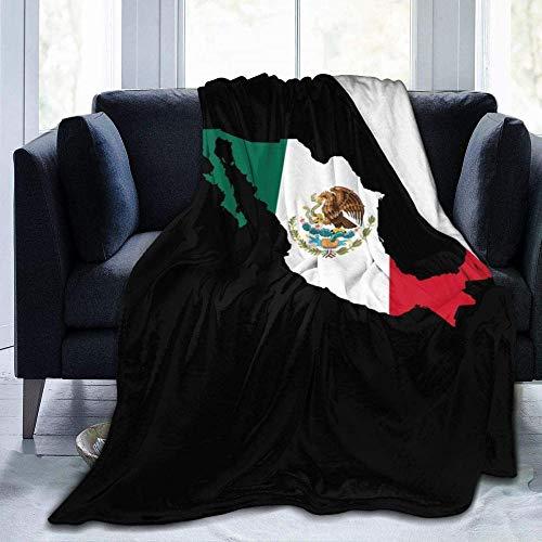 Votovcom Anime Mexiko Flagge Decke Braun Plüsch Decke Fuzzy Soft Blanket Mikrofaser