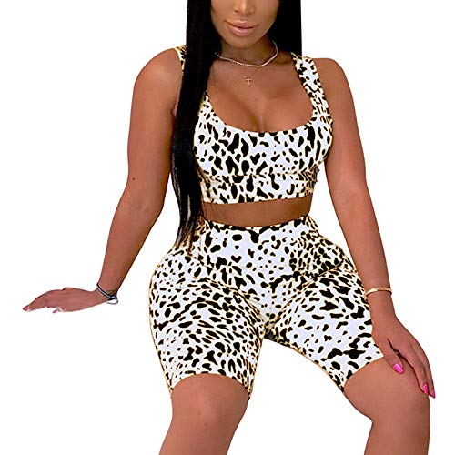 Women's Sexy Bodycon 2 Piece Outfits Crop Top Shorts Pants...