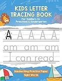 Kids Letter Tracing Book For Preschool & Kindergarten Toddlers...