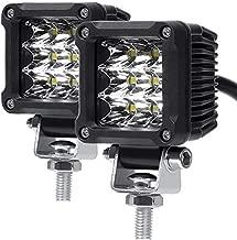 Motorcycle LED lights,ADZOON 2'' 27W Mini Cube Spotlights Fog Auxiliary Lights 12V 24V Front Work Universal Headlight for E-Bike Truck JEEP Car Boat