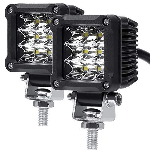 Motorcycle Fog Lights, 2'' Inch 27W Spot CREE Mini Cube Work Driving Pod Lights for Offroad Trucks ATV UTV SUV 4x4 Pick Up Car Boat