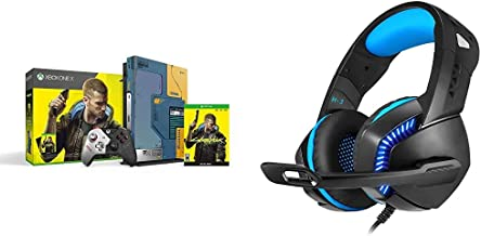 Xbox One X Cyberpunk 2077 Limited Edition Bundle (1TB)&Cosmic Byte H3 Gaming Headphone with Mic for PC, Laptops, Mobiles, ...