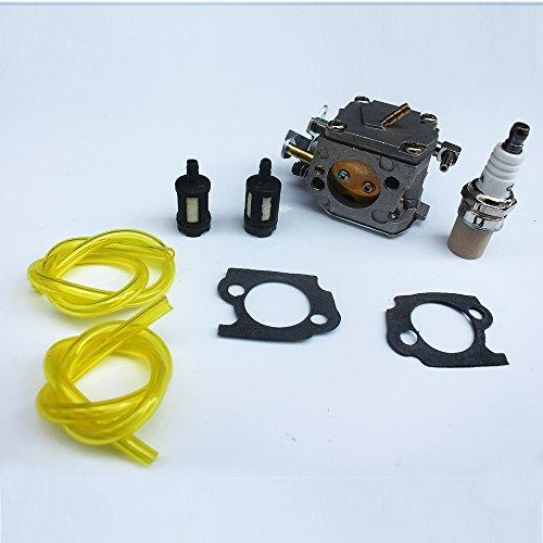 KIPA Carburetor Spark Plug Fuel Filter kit for Stihl 041 041AV 041 Farm Boss Gas Chainsaw # 1110-120-0609 with Mounting Gaskets
