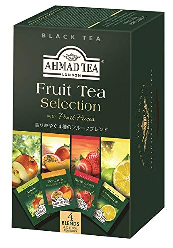 AHMAD TEA ( アーマッドティー ) フルーツセレクション ティーバッグ 20袋 ×3個 [ アソート : アップル レモン&ライム ピーチ&パッションフルーツ ストロベリー ]