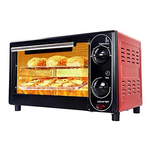 Mini Mikrowelle, 12L Pizzaofen mit Antihaft-Backblech, 30 Minuten Timer Backofen mit Umluft Ausgewogene Heizung füR Die Herstellung Von Brotkeksen