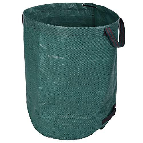 Sac poubelle de jardin 270 l - Diamètre : 67 cm x 75 cm - Sac poubelle - Vert