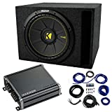 Single 12' Kicker CompC Sub Package with Kicker 46CXA400.1 Amp & Vented Enclosure