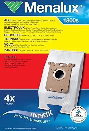 Menalux 1800 Pack 5 bolsas 1 filtro aspiradores AEG
