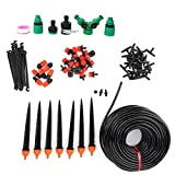 DSED Kit de riego, gotero Ajustable Microaspersor Kit de riego automático Juego de Herramientas de riego por Goteo para jardín