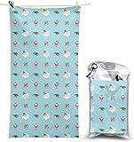 congminbai Toallas de Playa Feliz Navidad Manta de Toallas de Secado rápido Toallas sin Arena Absorbente para baño Viaje SPA Natación