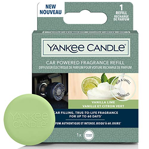YANKEE CANDLE 1627746E Ricarica diffusore di profumi alimentati per Auto, Vaniglia Lime