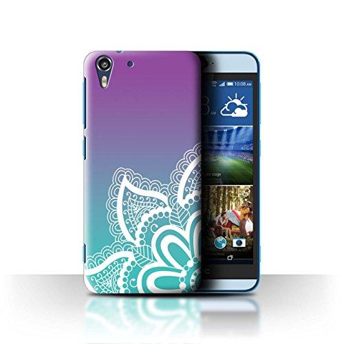 Stuff4 Hülle/Case für HTC Desire Eye LTE/Weiß Henna-Tattoo Muster/Ombre Muster Kollektion