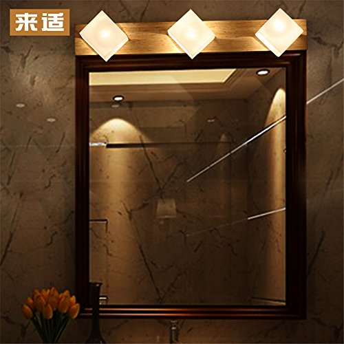 JJZHG wandlamp wandlamp waterdichte wandverlichting spiegel voorlamp woonkamer wandlamp slaapkamer bedlampje badkamer van hout gevoerd bevat: wandlamp, stoere wandlampen