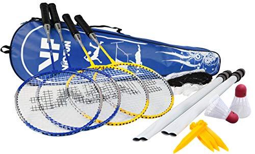 VICFUN Hobby Badminton Set Family, Gelb/Blau, One size, 795/0/2