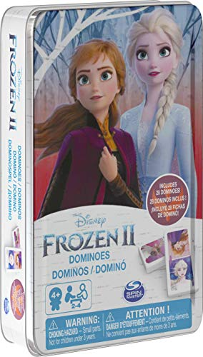 Disney Frozen 2 Dominoes Game Set in Storage Tin, for Families and Kids Ages 4 & Up