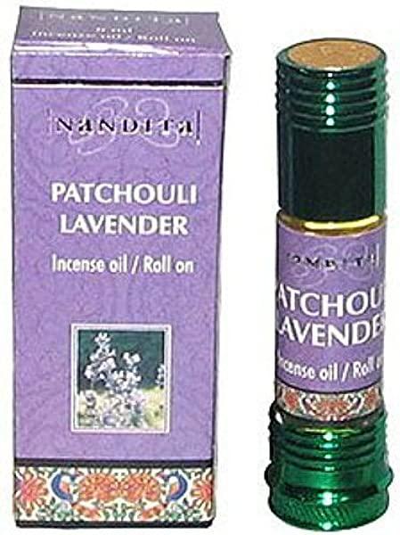 NANDITA PATCHOULI LAVENDER Incense Oil Roll On 8mL Bottles 5