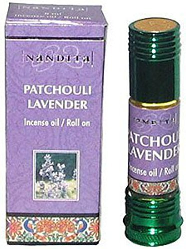 Nandita Patchouli Lavender Incense Oil Roll On 8mL Bottles (5)