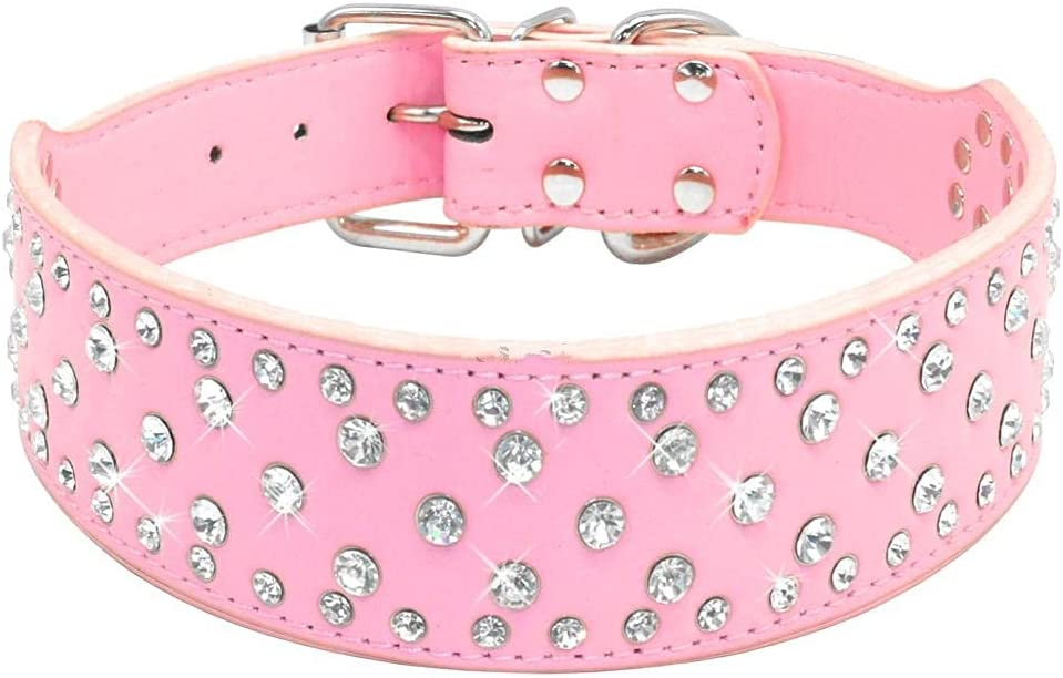 Rhinestone Pet Dog All stores are sold Collars Sparkly P Diamonds Decorated Crystal 2021 new