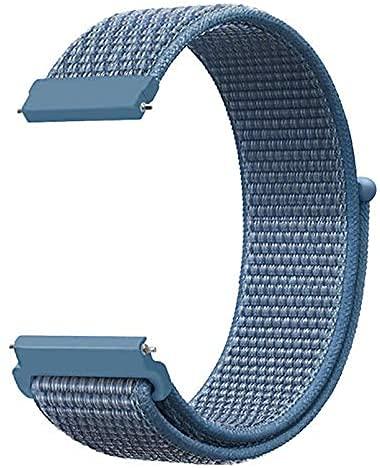 Niboow Correa Compatible con Huawei Watch 22mm, Ajustable Deportiva Repuesto Correa Deportiva Compatible con Huawei Watch 3/3 Pro/Huawei Watch GT 2 46 mm/Watch GT Active/Watch 2 Pro-Cape Cod Blue