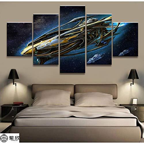 ADGUH Dipinti su TelaDecorazioni per la casa Immagine su Tela e 5 Pezzi Gioco Starcraft Pittura Poster da Parete per la casa su telaStampe su Tela