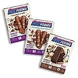 Pesoforma Barrette Cioccolato al Latte, Pasti Sostitutivi Dimagranti, 12 x 31g + Cioccolato Cuore Cocco 12 x...