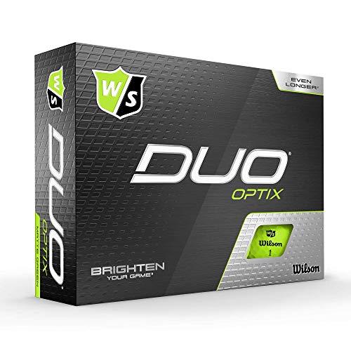 Wilson Staff Golfbälle, Duo Optix, 12 Bälle, Grün, Matte Oberfläche, Einfache Auffindbarkeit, WGWP50400