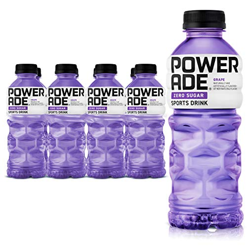 POWERADE ZERO, Zero Calorie Electrolyte Enhanced Sports Drinks, Grape, 20 fl oz, 8 Pack