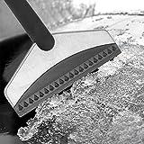 Omabeta Schneeschaufel-Reinigungswerkzeug Edelstahl Guter Schneeschaber-Effekt Schneeschaber für Fahrradhäuser, die vom Schneehaushalt abgedeckt Werden