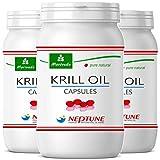 MoriVeda® Neptune Krillöl 270 Kapseln mit hochwertigem Omega 3 Öl, Astaxanthin, Antioxidantien &...