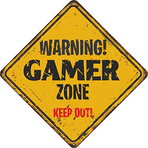 Level 33 Graphics Warning Gamer Zone Distressed stickers voor kinderkamer, 150 mm x 150 mm, voor fans van Fortnite, Pubg, Call of Duty, gewoon verwijderen en opplakken