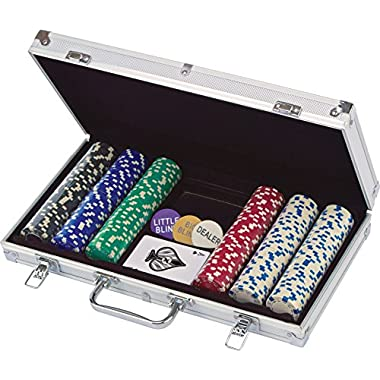 300 ct. Poker Chips 11.5G In Aluminum Case (Styles Will Vary) Game