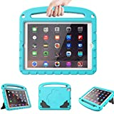 LTROP iPad 2 3 4 Case for Kids, Case for iPad 4/3/2 (Old Model - 9.7') - Light Weight Shock Proof Convertible Handle Stand Bumper Case Cover for iPad 2, iPad 3rd Generation, iPad 4th Gen (Turquoise)
