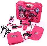 Qukueoy Kids Hairdresser Set Beauty Salon Toys 11 Pieces,Hair Stylist Makeup Kit for Little Girl Pretend...