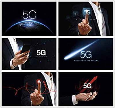 Contracted 5 g era 5 g network concept of science and technology communication technology 5 g poster PSD template 0203