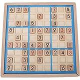 Weiyiroty Madera Tablero Sudoku Entrenamiento LóGica Tablero, Razonamiento Ajedrez Pensamiento NuméRico Juego Acertijo MatemáTico Juguetes con Cajones para Principiantes Maestros Regalo para NiñOs