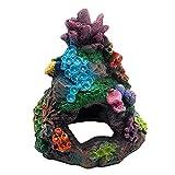 GZWY Decoración para acuario de resina con forma de roca, cueva de resina, decoración de acuario, paisaje de montaña, adorno para pequeños gambas, pez, tortuga (A)