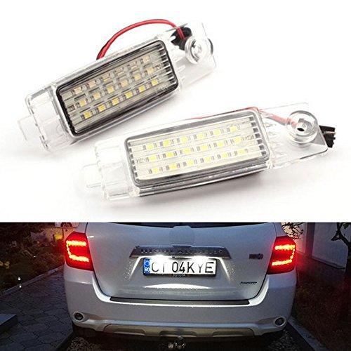PolarLander 7000k White Car Led Lámparas de matrícula Número de Parte Trasera del Coche Marco de Licencia Luces Lámparas
