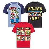 SUPER MARIO Nintendo Toddler Boys 3 Pack T-Shirts Luigi Bowser Yoshi Toad 2T