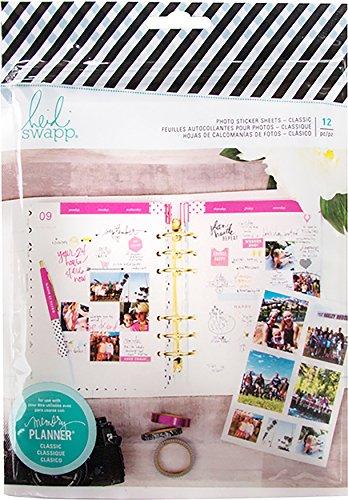 American Crafts Heidi Swapp Fresh Start memory planner photo sticker fogli–Classic, 17.5x 24.6x 0.3cm